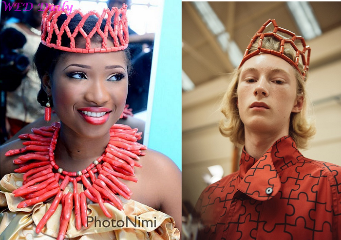 J.W Anderson Gets Inspiration From Edo Bride Accessory Crowns
