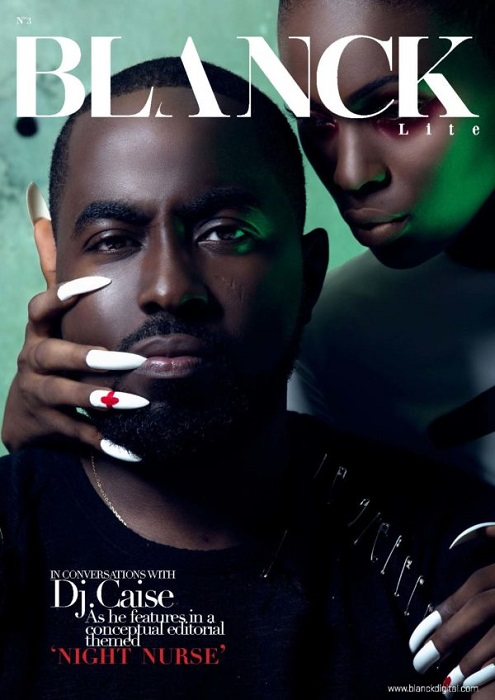 DJ Caise Covers the latest issue of Blanck Lite; Features in an Editorial Themed 'Night Nurse'
