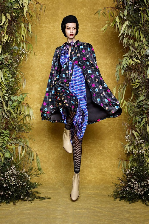 Duro Olowu goes Dots , Stripes and Textures at London Fashion Week AW17