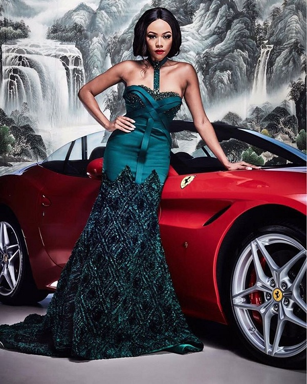 Bonang Matheba Slays in New Photos for the Gert-Johan Coetzee's Spring/Summer Collection for Fashion Week