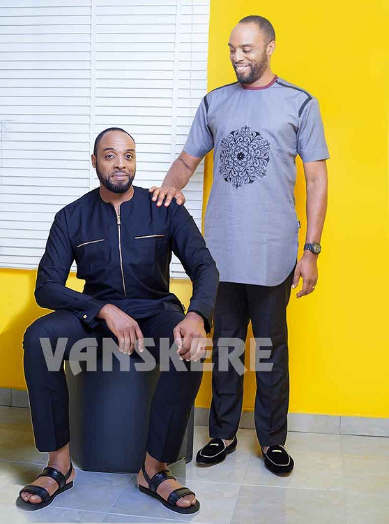 Nollywood Maestros -Patrick Doyle, Femi Odugbemi & Kalu Ikeagwu Model for Vanskere Afropolitan SS17 Collection