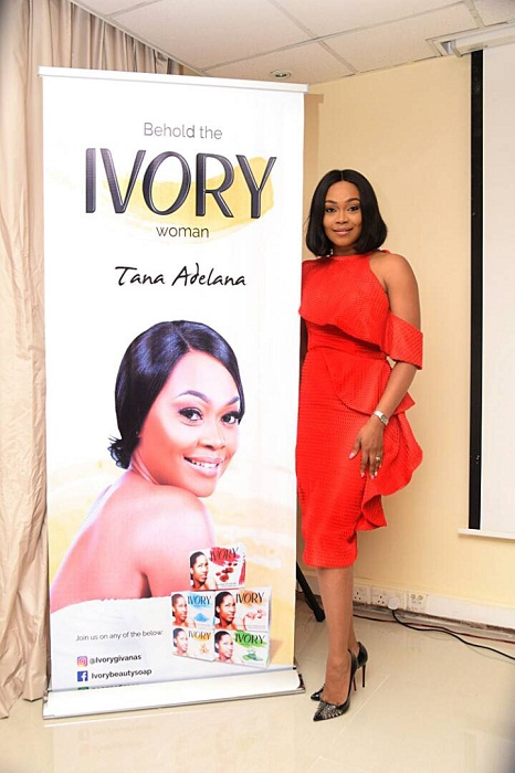 16 years After, Nollywood Actress - Tana Adelana gets First Endorsement as Face of Ivory Beauty Soap .